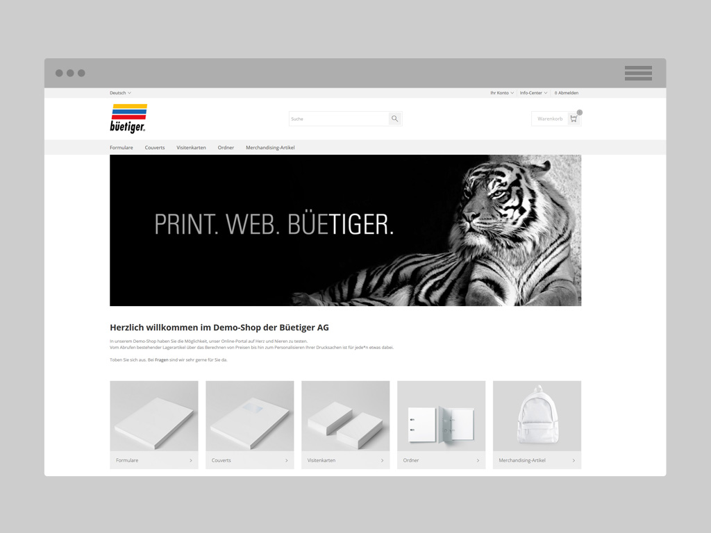 Büetiger AG References - web2print